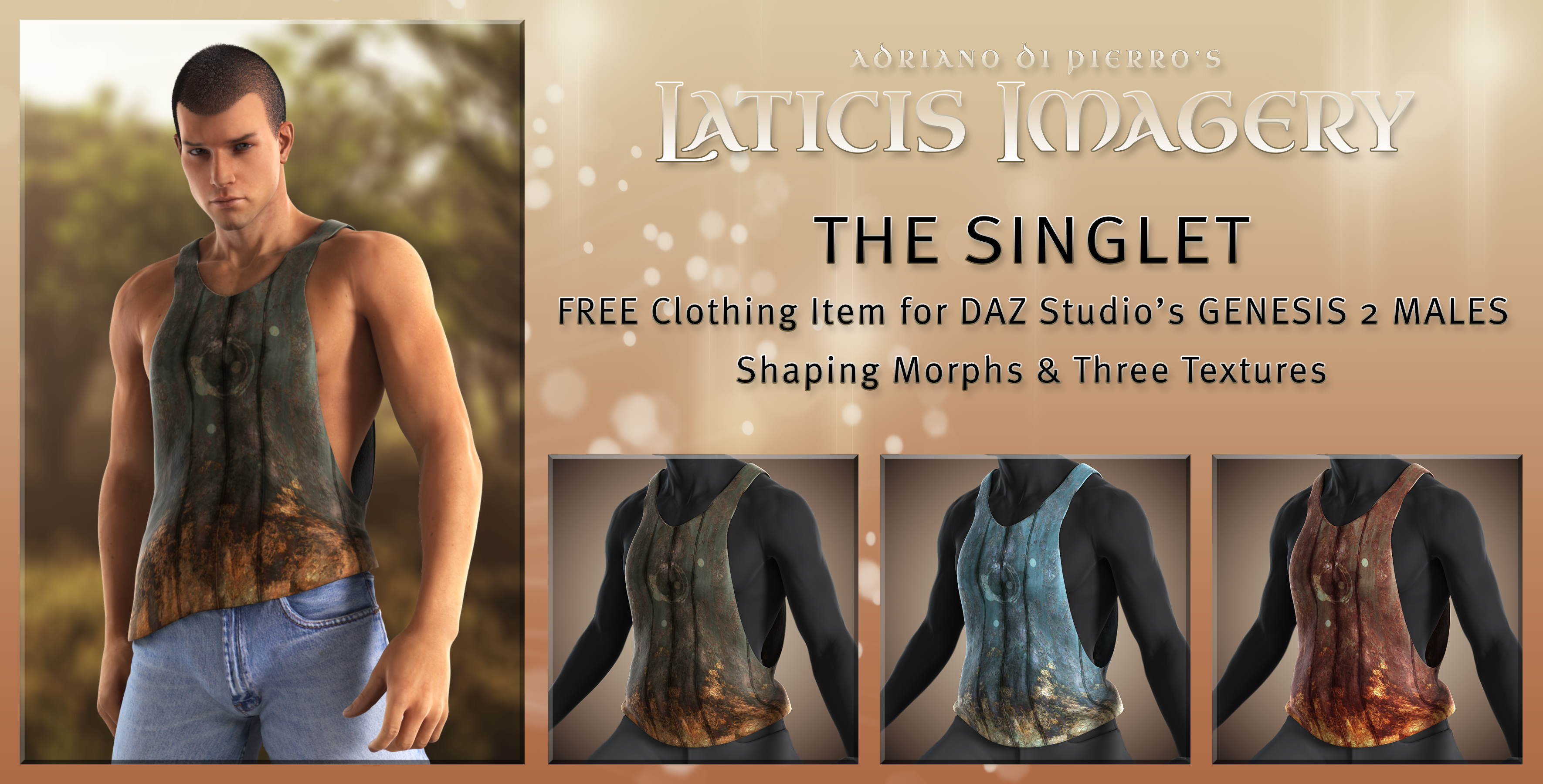 Laticis's FREE - The Singlet / Gen2 Male by Laticis