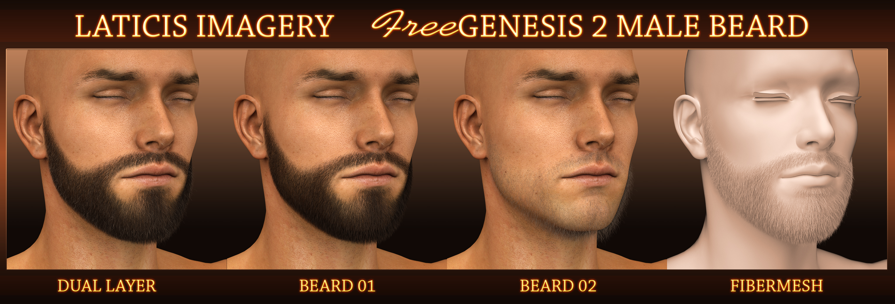 Laticis Imagery FREE - Genesis 2 Male Beard by Laticis on