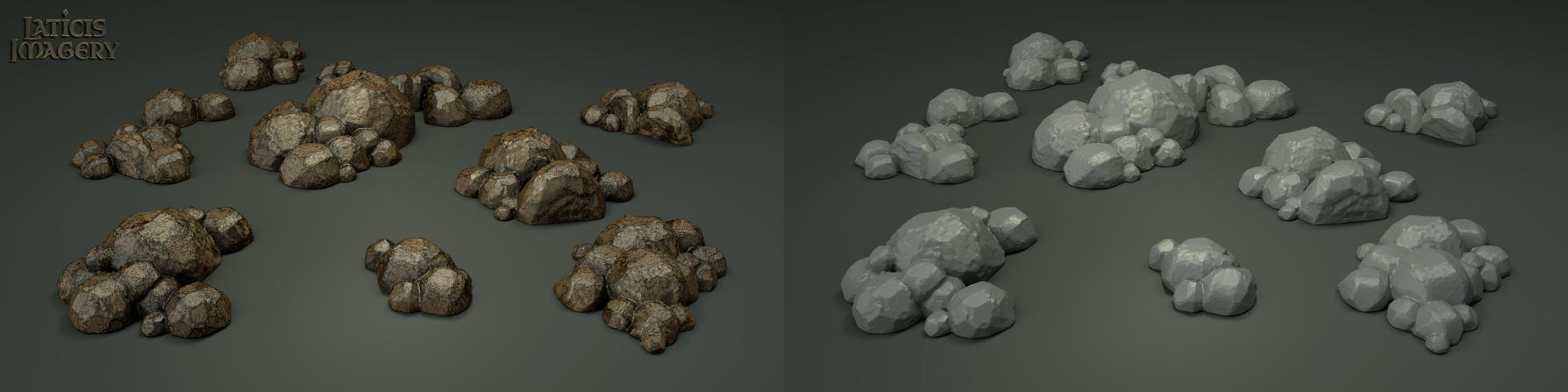 Laticis Imagery FREE Object - Rock Segments by Laticis