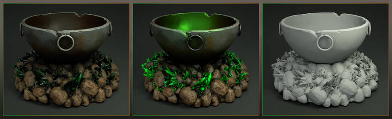 Laticis Imagery FREE Object - Stone Cauldron