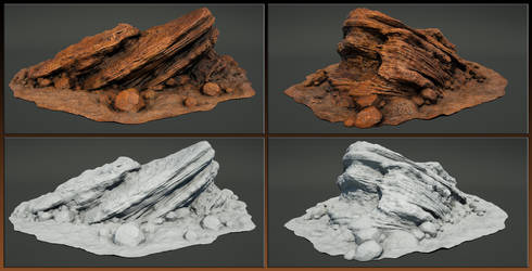 Laticis Imagery FREE Object - Gorn 'Like' Rock by Laticis