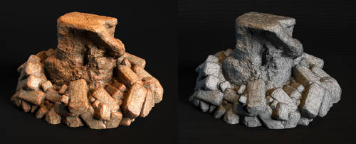 Laticis FREE Object - Stone Stump by Laticis