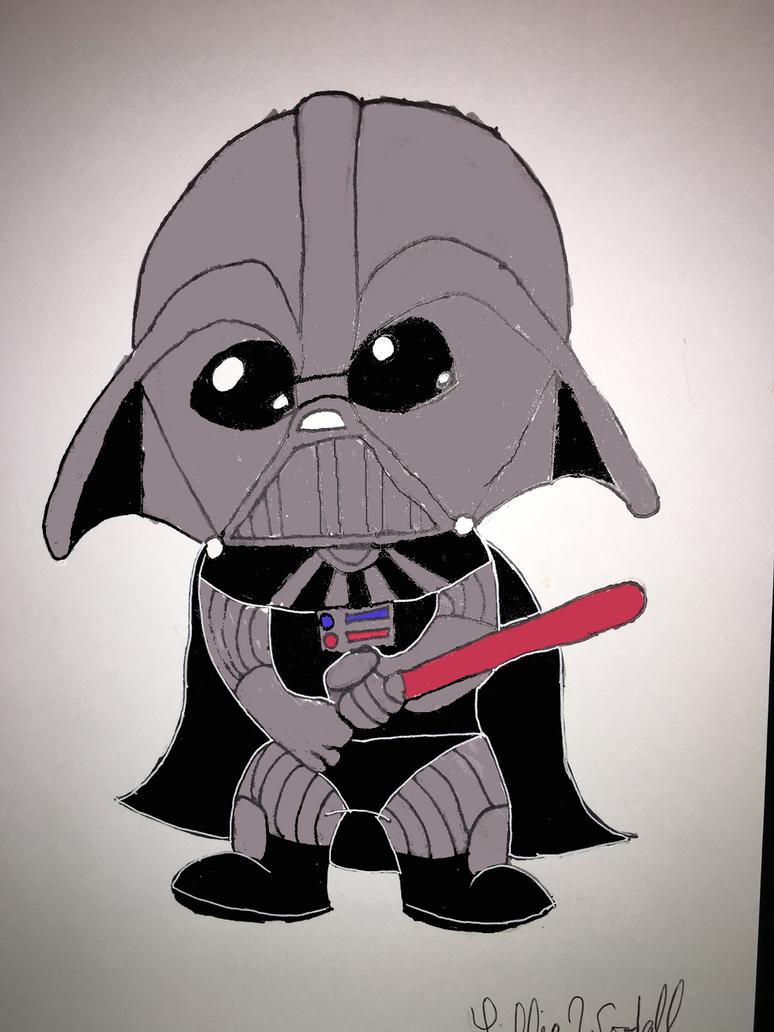 Chibi Darth Vader by blueist47art