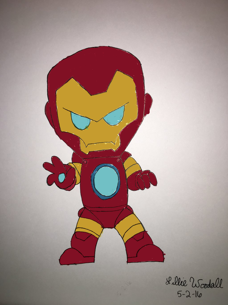 Chibi Iron Man by blueist47art