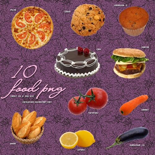 10 Food PNG