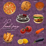 10 Food PNG by camiluchiiz