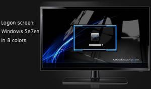 Windows Se7en logon screen 8 colors + user images