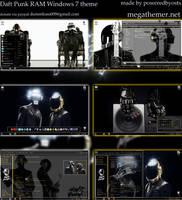 Daft Punk RAM 2014 Windows 7 theme