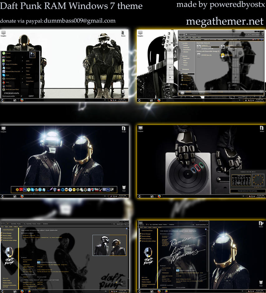 Daft Punk Theme for Win7 - SkinPack - Customize Your ...