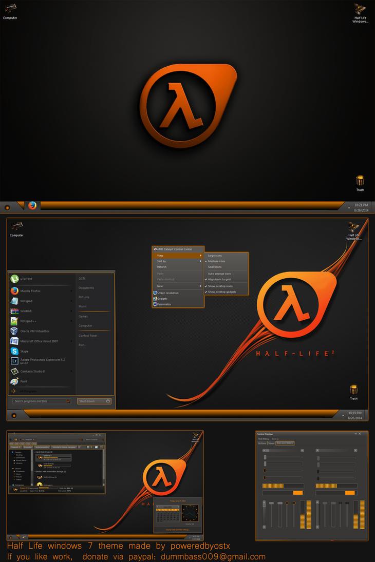 Half life windows 7 theme extras by poweredbyostx on for Window 07 themes