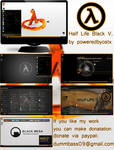 Half Life Black Version Windows 7 theme