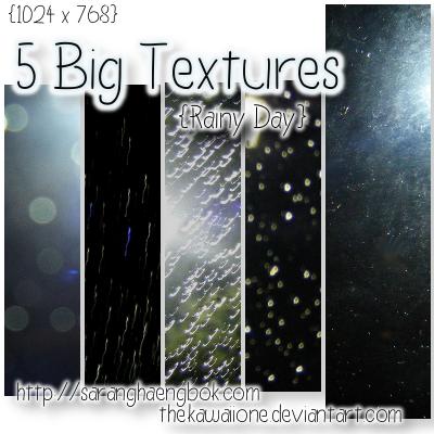 5 Big - Rainy Day Textures by thekawaiione