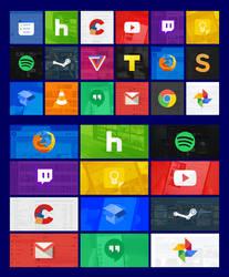 Modern Tiles Full Set 01 (Windows 10)