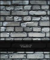 Grey bricks by Ribbonstock