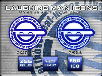 Laughing Man Icons by JayCosplay