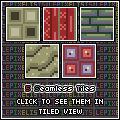 5-Set of Seamless Tiles for Walls or Floors