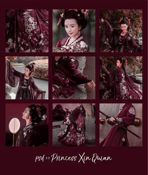 PSD Coloring OO9 : princess xin quian