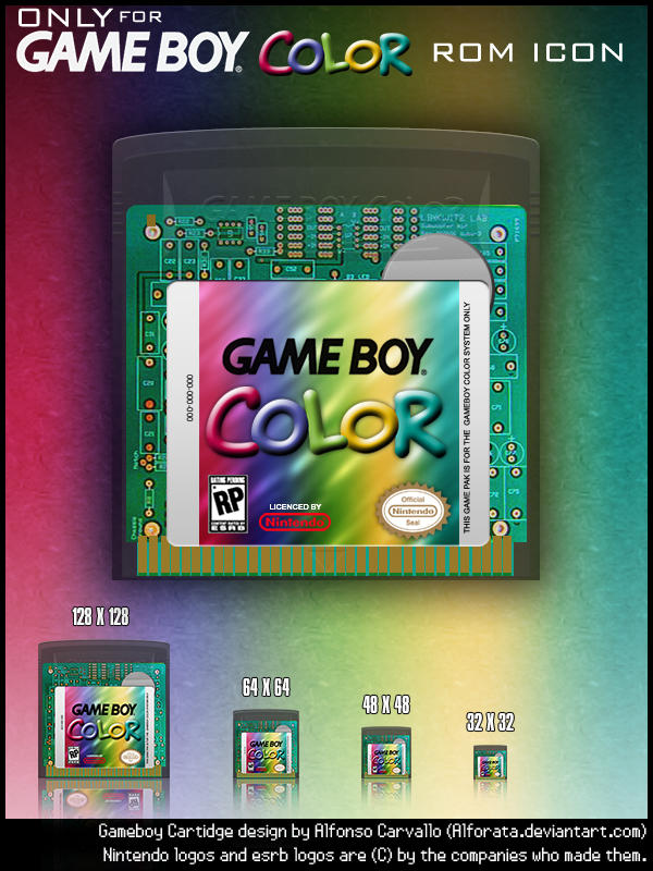 Gameboy Color Only Rom Icons By Alforata On Deviantart