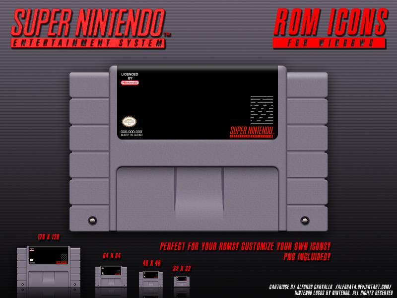 Super Nintendo Rom Icons