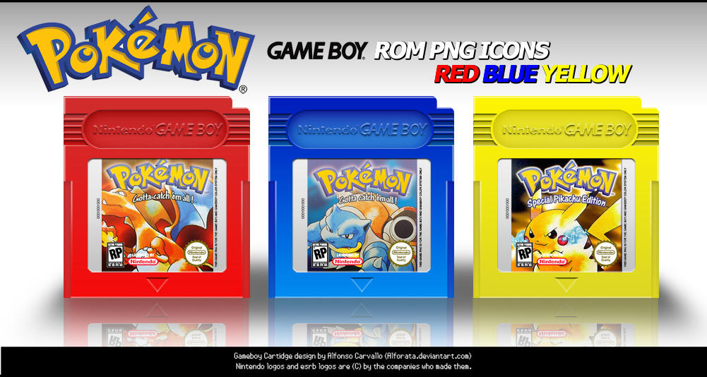 Pokemon Rom Icons RBY by Alforata on DeviantArt