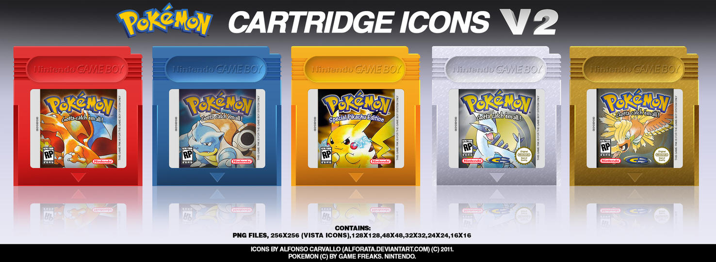 Pokemon Gb Cartridge Icons By Alforata On Deviantart