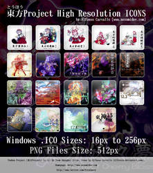 Touhou Project High Res ICONS