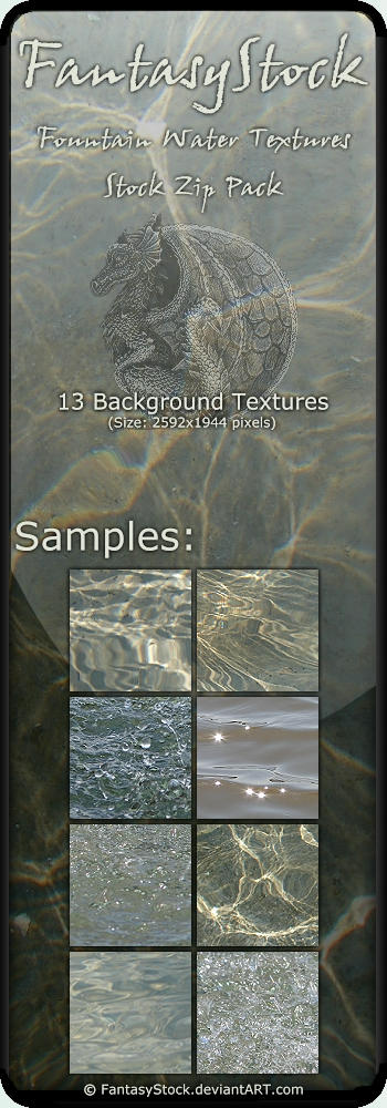 Fountain Water Texture Pack by FantasyStock