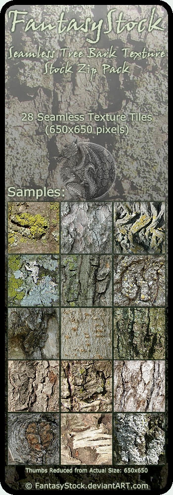 Seamless Tree Bark Textures 1 by FantasyStock