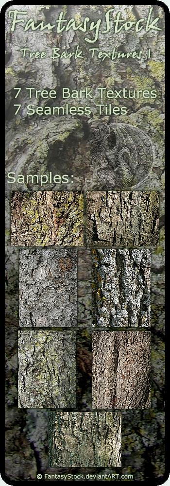 Tree Bark Textures Zip Pack 1