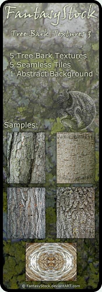 Tree Bark Textures Zip Pack 3