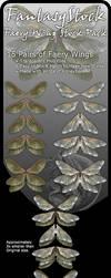 Honeybee Faery Wing Zip Pack by FantasyStock