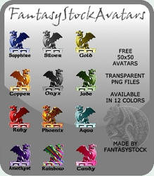 Free Dragon Avatars Zip Pack
