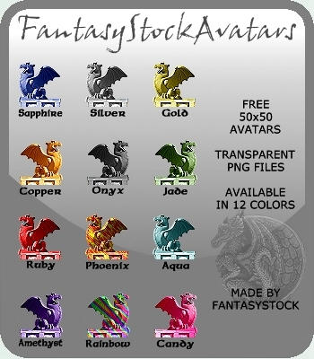 Free Dragon Avatars Zip Pack by FantasyStock
