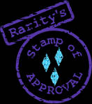 Rarity's Stamp of Approval SVG