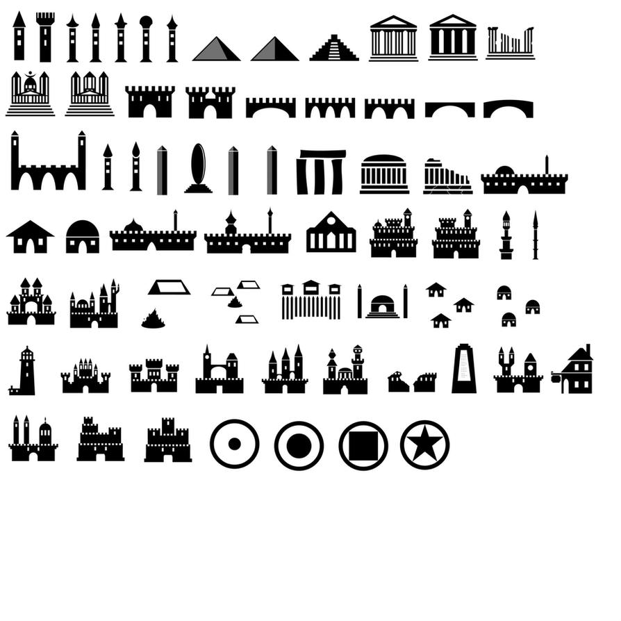 Map Symbols Photoshop Brushes Castles Etc By Jatna On Deviantart