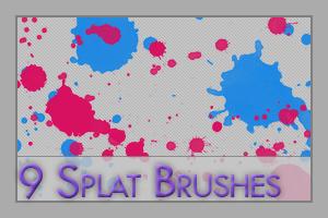 9 Splat Brushes by tenshi-16