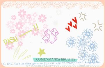 Manga Brushes by crazykira-resources