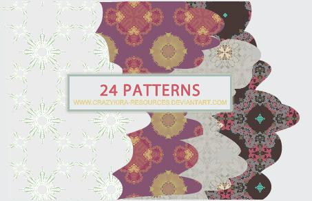 Retro Patterns by crazykira-resources