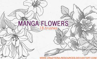 Manga Flowers by crazykira-resources