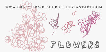 Flower Brushes by crazykira-resources