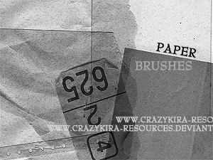 Paper Brushes by crazykira-resources