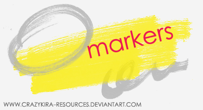 Markers by crazykira-resources