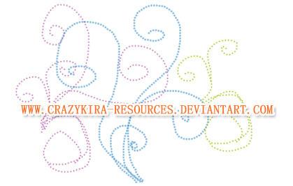 Dotted Swirls by crazykira-resources