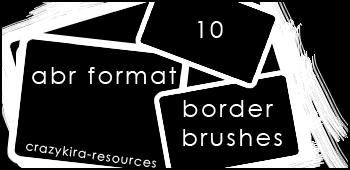 border brushes01 by crazykira-resources