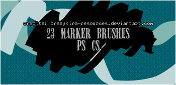 marker brushes by crazykira-resources