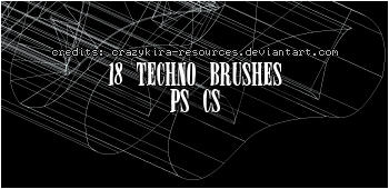 techno brushes01 by crazykira-resources
