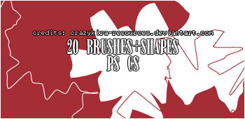 mask brushes+shapes by crazykira-resources