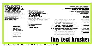 tiny text brushes by crazykira-resources