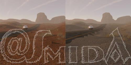 Freebie - SmidA - Desert Road by SmidA460