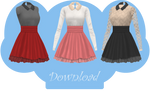 [MMD] COLLARED DRESS [+DL]